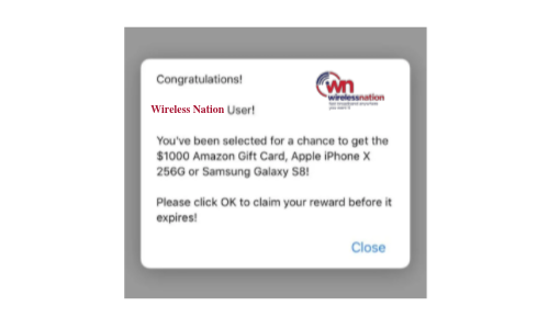 Pop up scam NZ