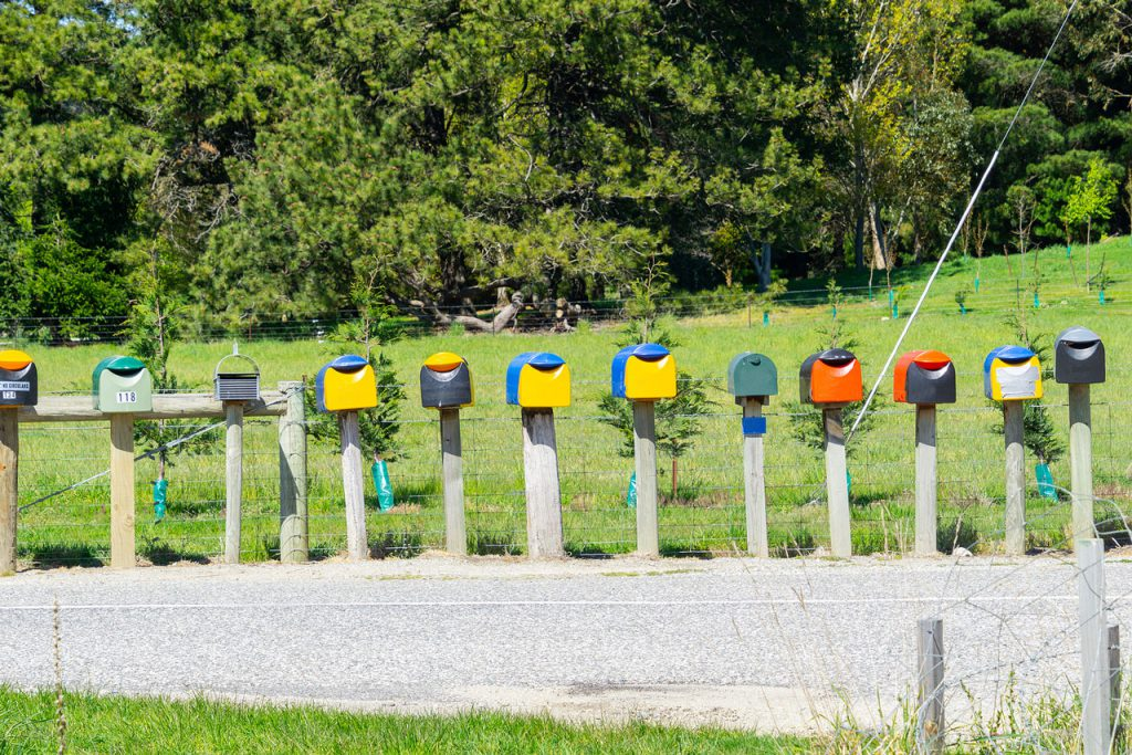 Rural NZ Letter Box