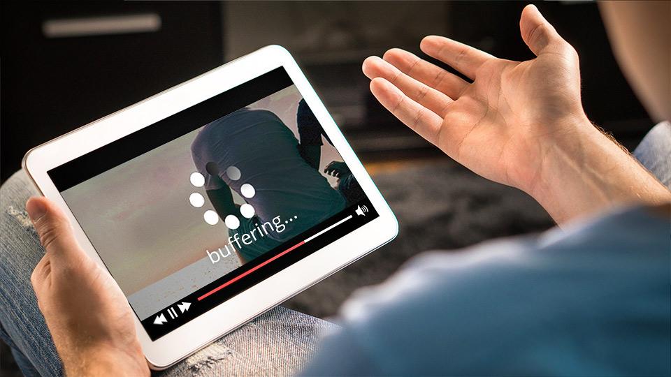 Youtube video buffering on a iPad